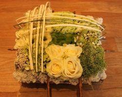 Les Bouquets d'Elise – Fretin - coussin carré deuil