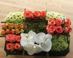 Les Bouquets d'Elise – Ennevelin- Les compositions de deuils carré de fleurs