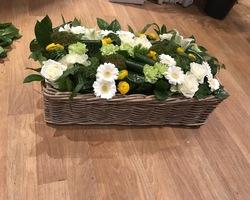 Carre fleurs deuil-peronne en melantois -bouquets d'elise
